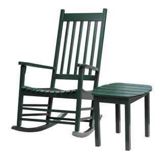 Hunter Green 2-piece Porch Rocker/ Side Table Set