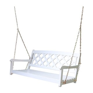 Wing White Acacia Porch Swing