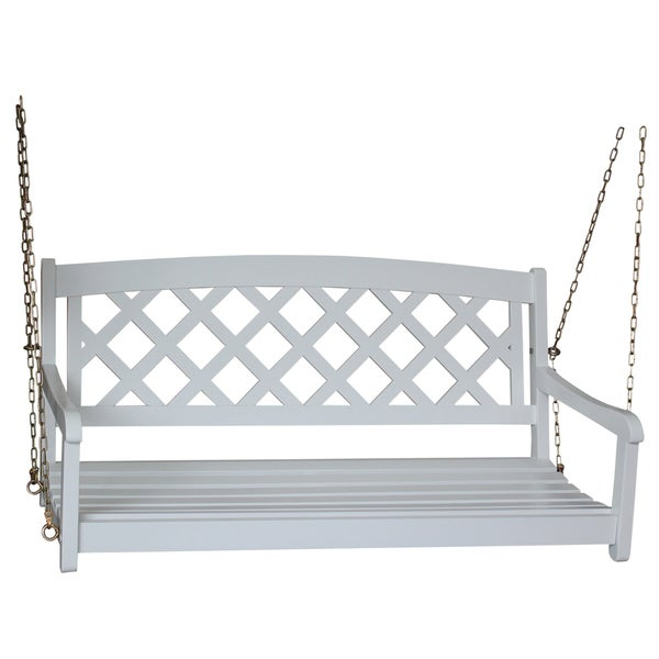 Wing White Acacia Porch Swing Free Shipping Today