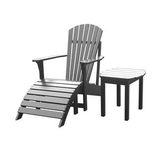 Black 3-piece Adirondack Chair Set