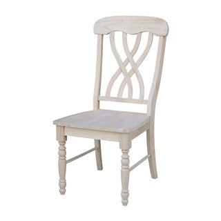 Link to International Concepts Unfinished Solid Parawood Latticeback Dining Chairs (Set of 2) Similar Items in Dining Room & Bar Furniture