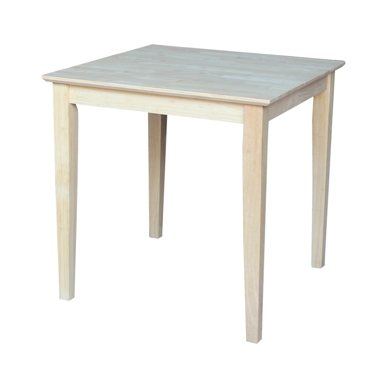 The Gray Barn Fairy Glen 30 Inch Unfinished Shaker Style Parawood Square Dining Table