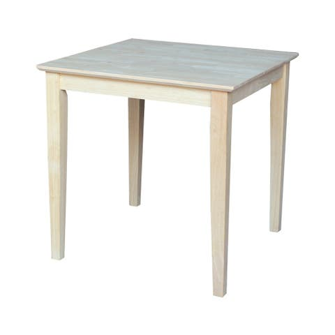 The Gray Barn Fairy Glen Shaker Style Hardwood Square Dining Table