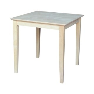 The Gray Barn Fairy Glen 30-inch Unfinished Shaker Style Parawood Square Dining Table