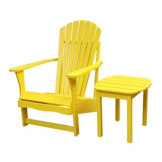 Yellow 2-piece Adirondack Chair/ Side Table Set