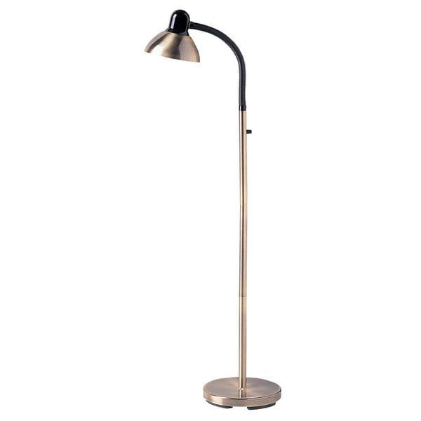 Dainolite Antique Brass Gooseneck Floor Lamp