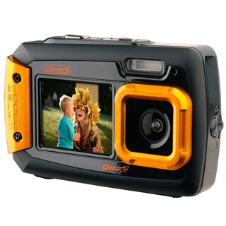 Coleman Duo2 20 MP Waterproof Digital Camera and Dual Screen LCD (Option: Orange)