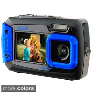 Coleman Duo2 20 MP Waterproof Digital Camera and Dual Screen LCD|https://ak1.ostkcdn.com/images/products/9317194/P16477591.jpg?impolicy=medium