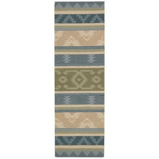 Nourison India House Blue Green Rug (2'3 x 7'6)
