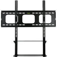 Mount-It! Black, Low Profile, Universal TV Wall Mount with Built-in Shelving Unit for 60-inch Max LCD/ LED/ Plasma Screens