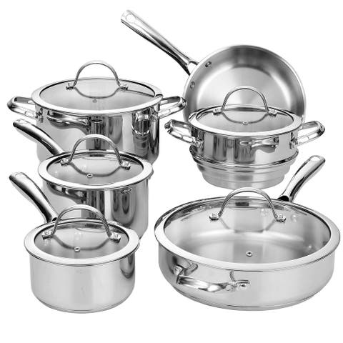 Cooks Standard 11-Piece Classic Stainless Steel Cookware Set