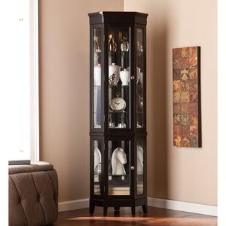 Copper Grove Bijoux Black Curio Display Cabinet