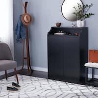 Porch & Den Bushwick Himrod Black 4-shelf Shoe Organization Cabinet