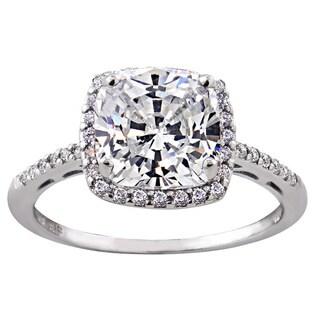 Glitzy Rocks Sterling Silver Gemstone with Cubic Zirconia Birthstone Square Ring (Option: Sapphire)|https://ak1.ostkcdn.com/images/products/9318309/P16478525.jpg?_ostk_perf_=percv&impolicy=medium
