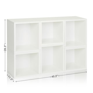Iris Eco Friendly Stackable Modular Storage Cube Bookcase LIFETIME WARRANTY (made from sustainable non-toxic zBoard paperboard)