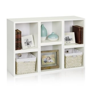 Iris Eco Stackable Modular Storage Shelf Cube Bookcase Organizer by Way Basics LIFETIME GUARANTEE