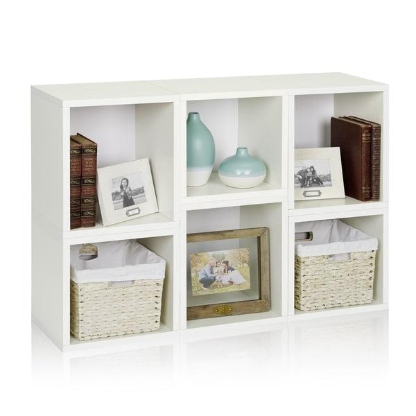 Iris Eco Stackable Modular Storage Shelf Cube Bookcase Organizer by Way Basics LIFETIME GUARANTEE