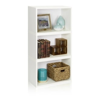 Hillcrest Eco Stackable Modular Rectangle Bookcase System by Way Basics LIFETIME GUARANTEE