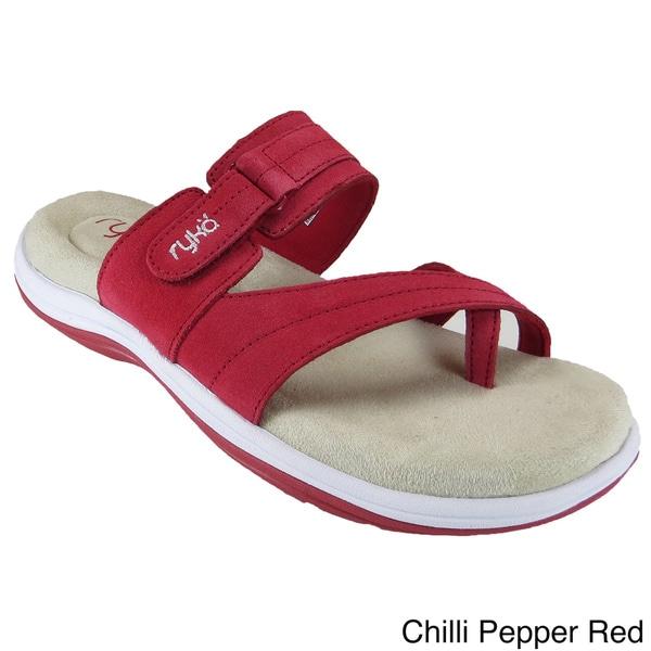 Shop Ryka Women S Cozi Toe Loop Sandals Free Shipping On
