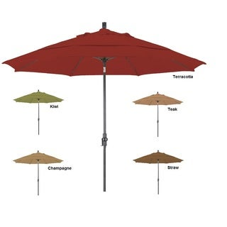 Lauren & Company Premium Aluminum Tilting Umbrella (5 Colors)