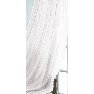 French Lace Sheer 95 Inch Curtain Panel 10496139