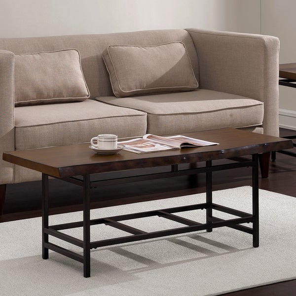 At Home Live Edge Coffee Table: Shop Floating Top Live Edge Coffee Table