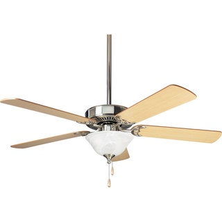 Progress Lighting 52-inch Airpro Builder 3-light 5-blade Brushed Nickel Ceiling Fan