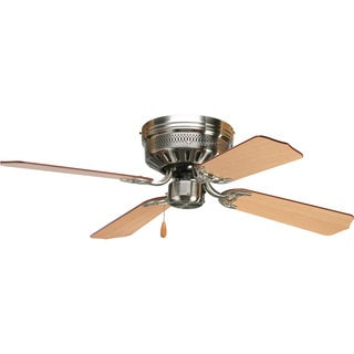 Progress Lighting Airpro Hugger 42-inch 4-blade Brushed Nickel Ceiling Fan