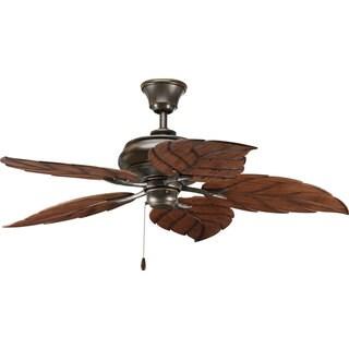 Progress Lighting Airpro 52-inch 5-blade Antique Bronze Indoor/ Outdoor Ceiling Fan