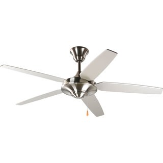 Progress Lighting Airpro Brushed Nickel 54-inch 5-blade Energy Star Fan