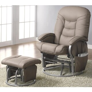 Adara Swivel Glider Recliner Ottoman Set