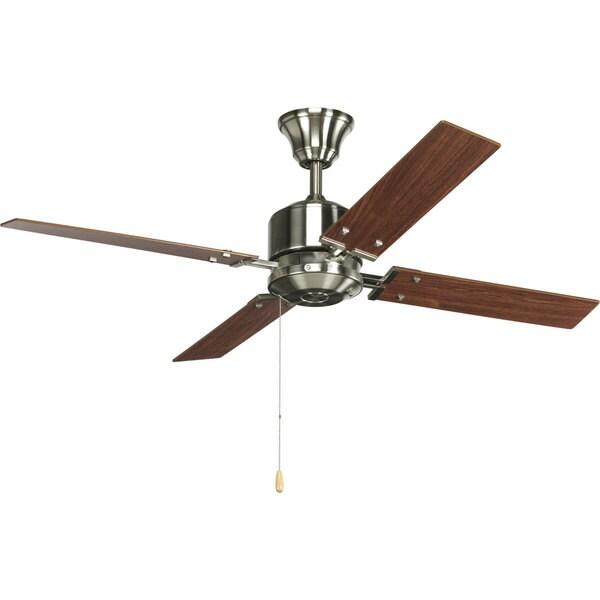 Progress Lighting North Park 52-inch 4-blade Brushed Nickel Ceiling Fan