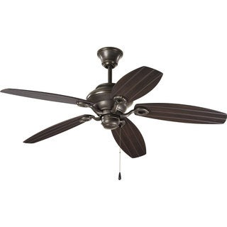Progress Lighting Airpro 54-inch 5-blade Antique Bronze Indoor/ Outdoor Ceiling Fan