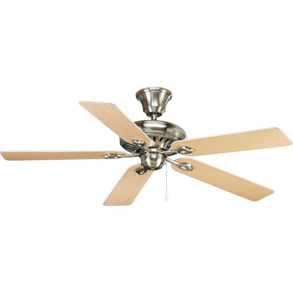 Progress Lighting Airpro Signature 52-inch 5-blade Brushed Nickel Ceiling Fan