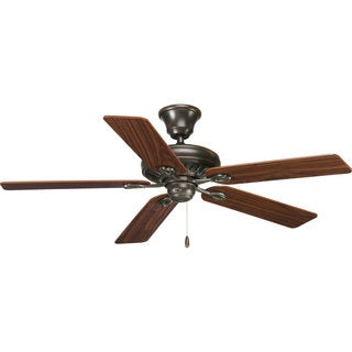 Progress Lighting Airpro Signature 52-inch 5-blade Antique Bronze Ceiling Fan