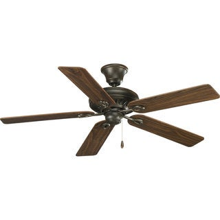 Progress Lighting Airpro Signature 52-inch 5-blade Forged Bronze Ceiling Fan