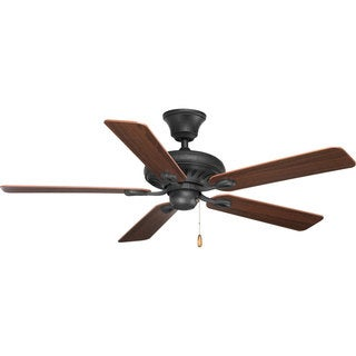 Progress Lighting 52-inch 5-blade Forged Black Ceiling Fan