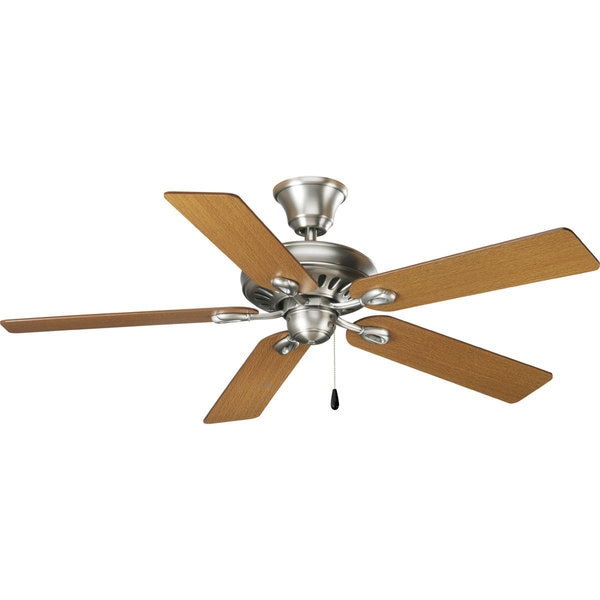 Progress Lighting Airpro Signature 52-inch 5-blade Antique Nickel Ceiling Fan