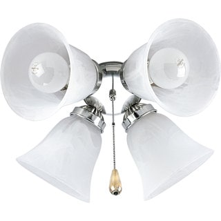 Progress Lighting Airpro Brushed Nickel 4-light Ceiling Fan Light
