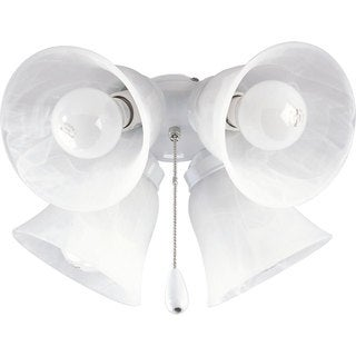 Progress Lighting Airpro White 4-light Ceiling Fan Light