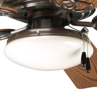 Progress Lighting Airpro Antique Bronze 2-light Ceiling Fan Light