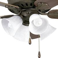 Progress Lighting Airpro Weathered Bronze 4-light Ceiling Fan Light