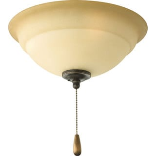 Progress Lighting 3-light Forged Bronze Ceiling Fan Light