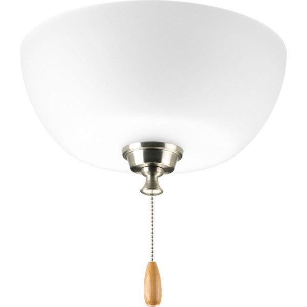 Progress lighting wisten collection brushed nickel 3 light ceiling fan light