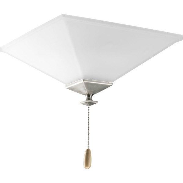Progress Lighting North Park Collection Brushed Nickel 3-light Ceiling Fan Light