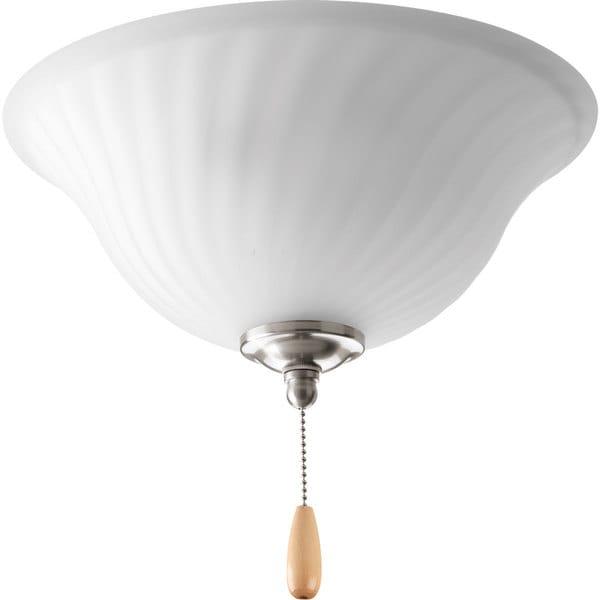 Progress Lighting Kensington Collection Brushed Nickel 3-light Ceiling Fan Light
