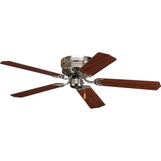 Progress Lighting Airpro Hugger 52-inch 5-blade Brushed Nickel Ceiling Fan