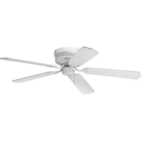 Progress Lighting Airpro Hugger 52-inch 5-blade White Ceiling Fan