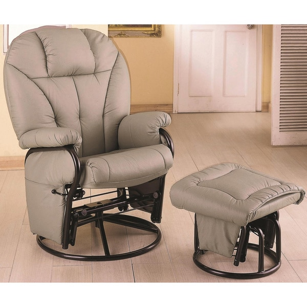 Shop Adonis Swivel Glider Recliner Ottoman Set - Free ...