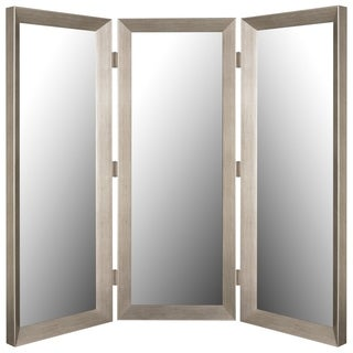 """Hitchcock Butterfield Graciana Silver Three Panel Room Dividing Mirror - 22.75""""w x 72.75""""h"""